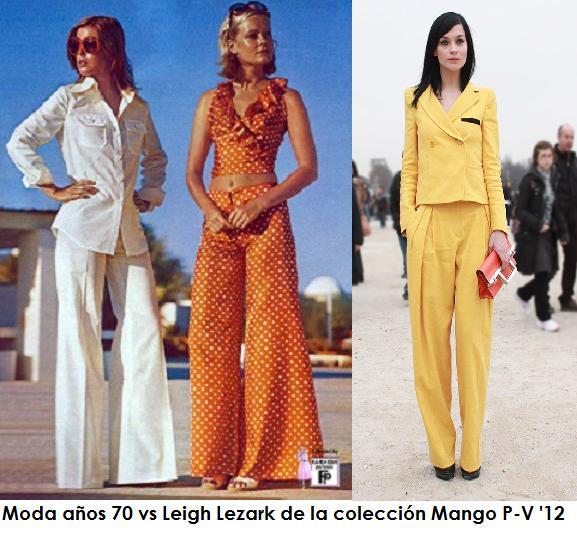 Asimismo, en la transición de los años 60 a los 70 la mujer empieza a lucir piernas y las faldas con tablas se acortan hasta conseguir un look de colegiala